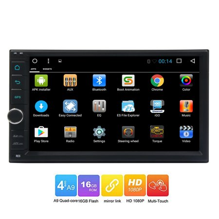 Standard Double 2 Din Android 6.0 in Dash Car Stereo Radio GPS Navigation with map data ready Support 3G/4G Dongle Wifi Bluetooth Mirrolink Automotive Video Head Unit