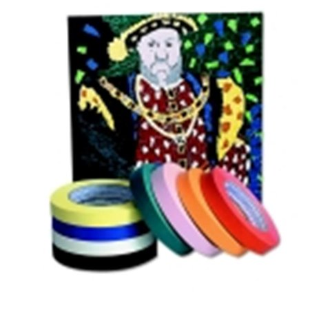 Chenille Kraft Self-Adhesive Colored Masking Tape With 3 in. Core, Black Chenille Kraft Reusable Tub