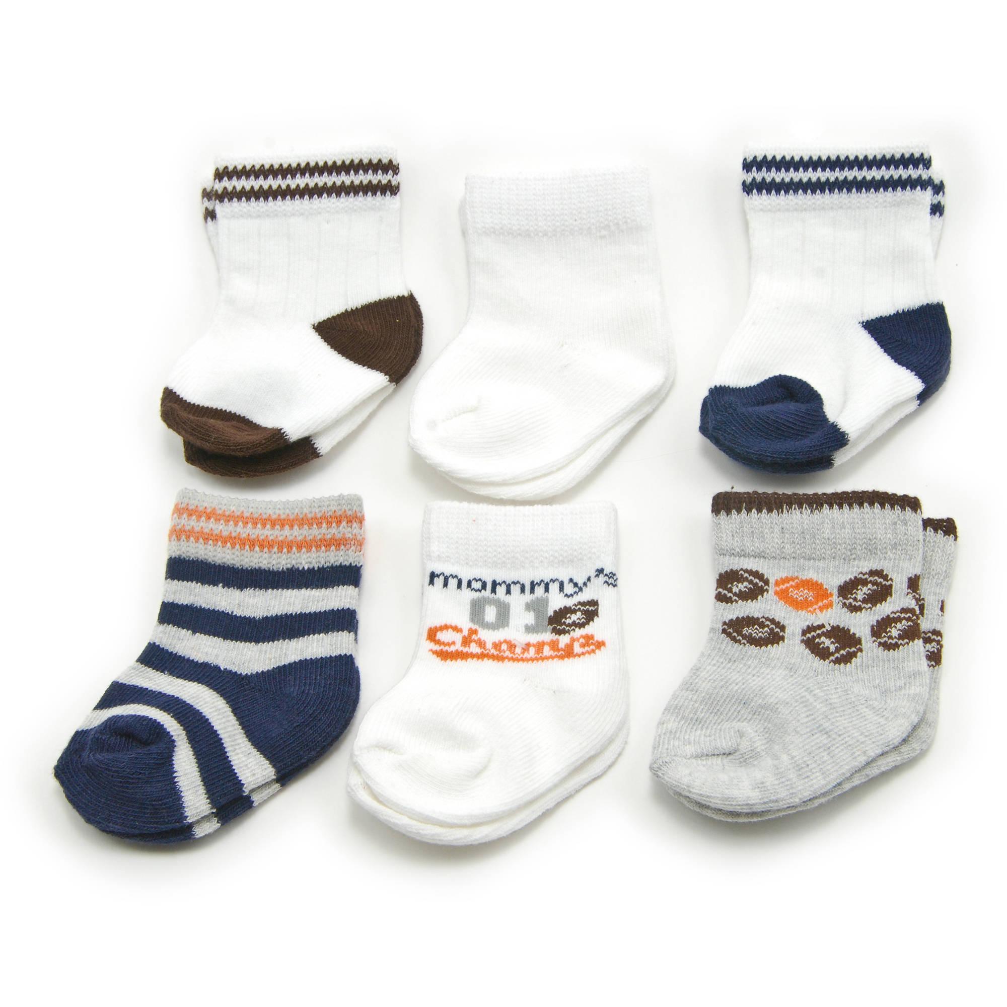 Child of Mine Baby Boys' Graphic Fashion Socks, 6-Pack