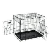 "Pet Trex 24 Inch Folding Pet Crate, 2 Door Animal Kennel, 24"" Dogs, Rabbits"