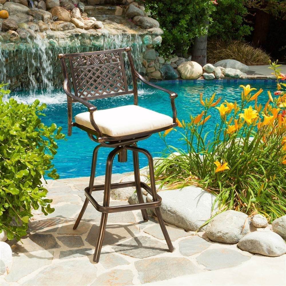Outdoor Barstool with Cushion