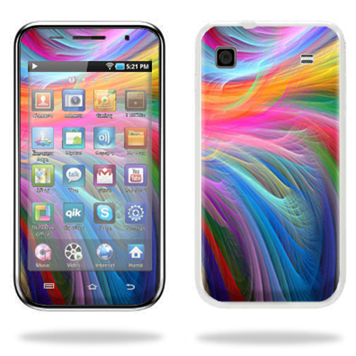 Mightyskins Protective Vinyl Skin Decal Cover for Samsung Galaxy Player 4.0 MP3 Player wrap sticker skinsRainbow Waves