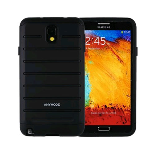 anymode rugged case for samsung galaxy note 3 - black