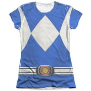 Mighty Morphin Power Rangers Blue Ranger (Front Back Print) Juniors Shirt