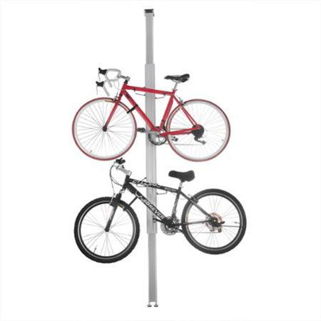 Dtx International Rad Cycle Aluminum Bike Stand Bicycle Rack Storage Or Display Holds Two Bicycles