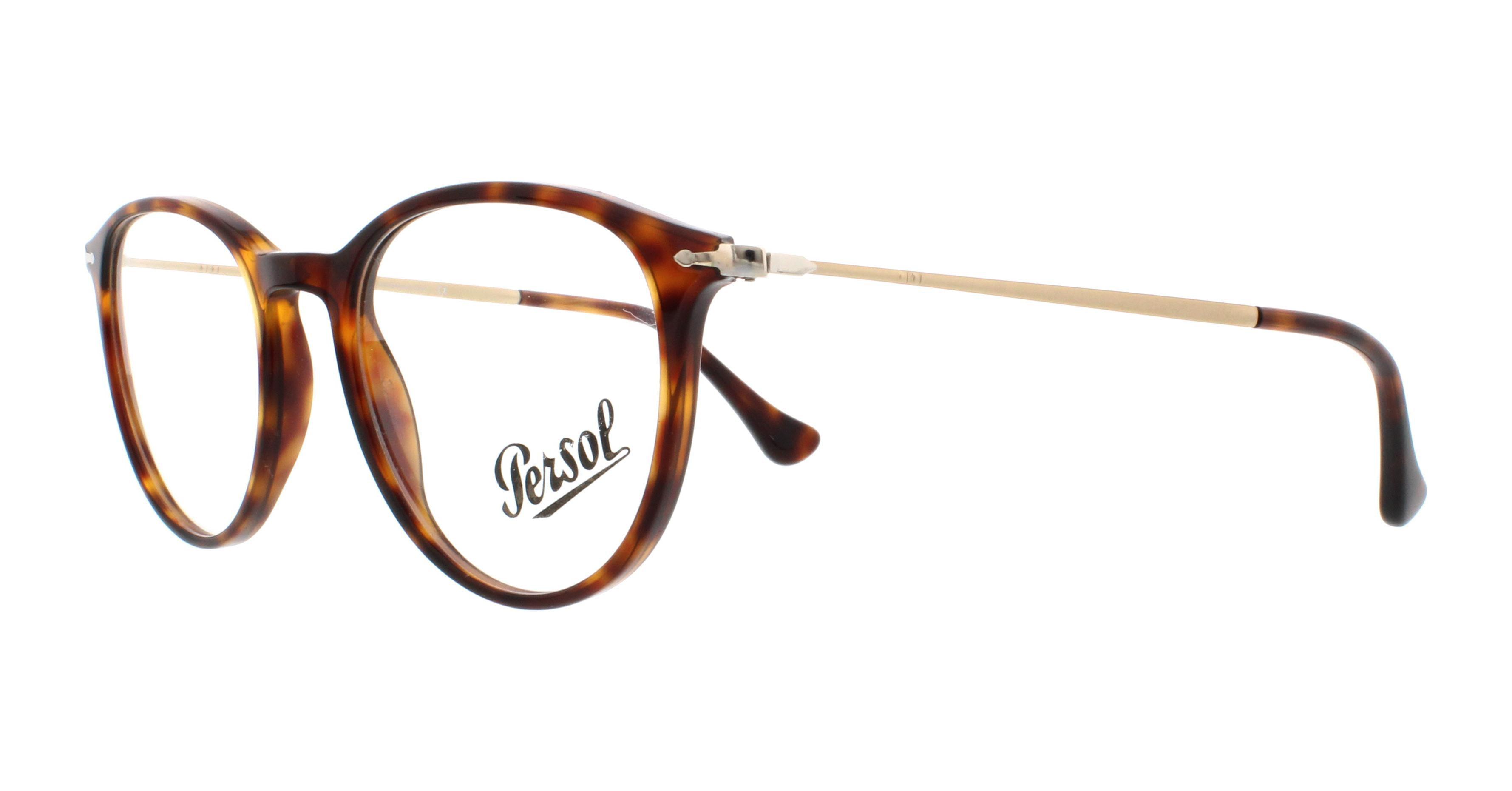 ed8e3db497e1 PERSOL Eyeglasses PO 3147V 24 Havana 48MM - Walmart.com