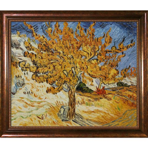 Wildon Home 'The Mulberry Tree' Canvas Art by Vincent Van Gogh Impressionism in Verona Cafe Frame