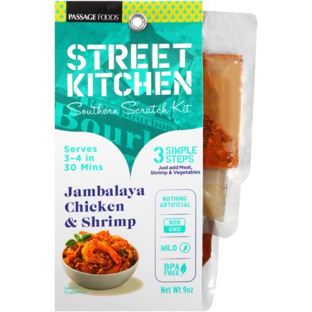 (6 Pack) Street Kitchen Jambalaya Chicken & Shrimp Southern Scratch Kit, 9 oz ()