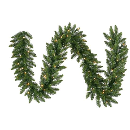 """9' x 16"""" Pre-Lit Camdon Fir Artificial Christmas Garland - Clear LED Lights"""
