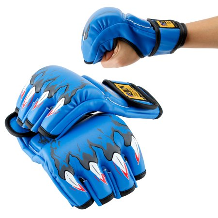 New MMA Grappling Boxing Fight Punch Ultimate Mitts PU Leather Gloves - Toddler Boxing Gloves