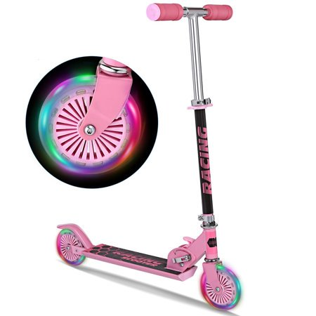 Kick Scooter for Children Kids Boys Girls 3-17 Years old, Foldable 3 Height Adjustable with Flashing Light Wheel Scooter - Toys For A 6 Year Old Girl