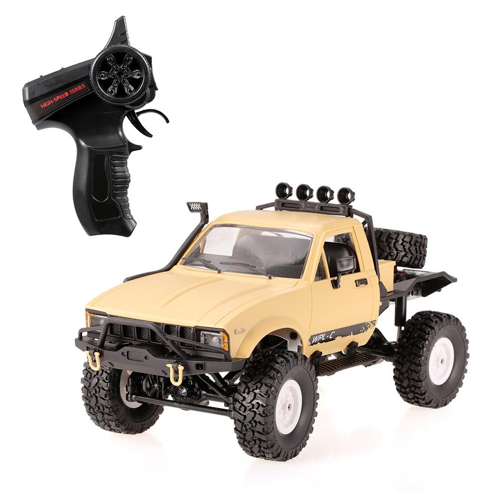 WPL C14 1//16 2.4GHz 4WD RC Crawler Off-road Semi-truck Car w//Headlight RTR TOY