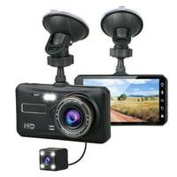 "TSV 1080P Full HD 4"" IPS LCD Touch Screen Display Dual Lens Car Camera Car DVR Dash Cam Video Recorder G-Sensor For Car Truck Bus"