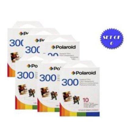 Polaroid PIF-300 Instant Film for 300 Series Cameras- 60 Total Photos + DBROTH Fiber Cloth ()