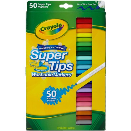 Crayola Super Tips Washable Markers, 50 (American Crafts Galaxy Marker)