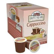 4 PACKS : Grove Square Cappuccino, Hazelnut, 24 Single Serve Cups