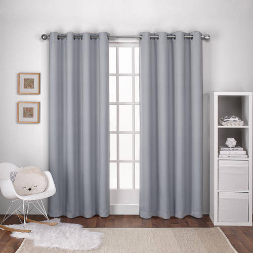 Exclusive Home Curtains 2 Pack Textured Woven Blackout Grommet Top Curtain Panels