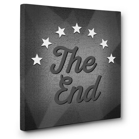 The End Theater Cinema Movie Room Wall Art CANVAS - Movie Theater Wall Decor