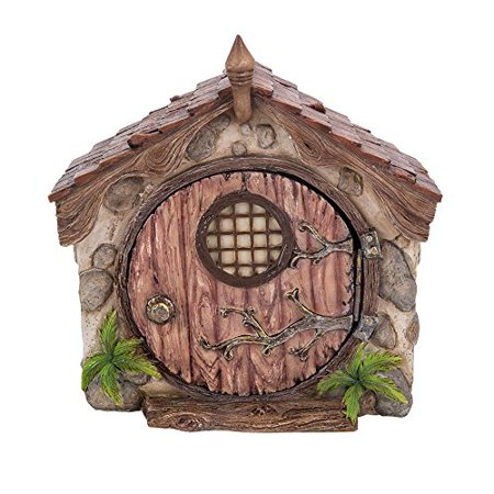 Miniature Fairy Garden of Enchantment Fairy Dome Cottage with Door Figurine Display 5.25 Inches ()