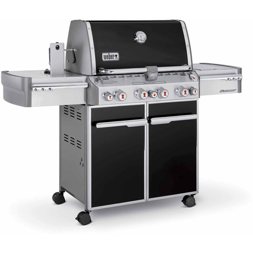 Weber Summit E-470 LP Gas Grill, Black by