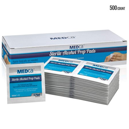 Alcohol Wipes - Sterile Alcohol Prep Pads, Antiseptic Sanitizer Swab Pads, 2-Ply Cotton 70% Isopropyl Individually Wrapped Box of 500 - image 1 of 1