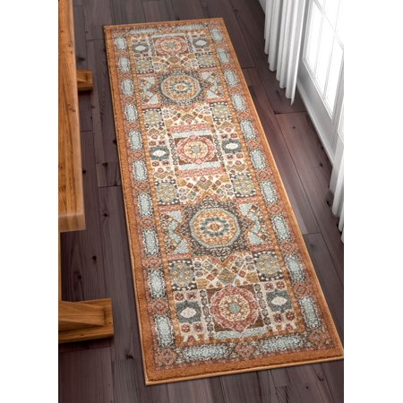 Well Woven Lau Fiatto 2 3 X 7 Runner Traditional Vintage Ethnic Mosaic Earth Rug