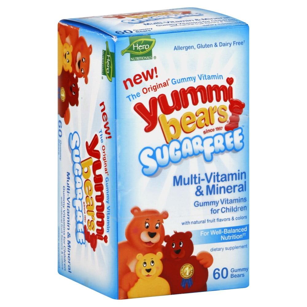 Gummy Vitamin Yummy Bears Sugar Free- 60 Yummi Bears