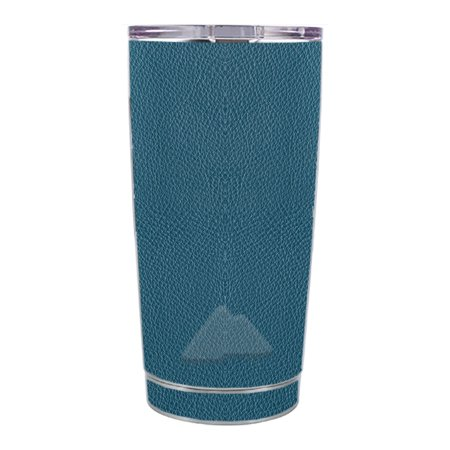 Skin Decal For Ozark Trail 20 Oz Blue Teal Leather Pattern Look