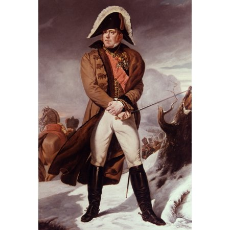 Michel Ney (1769-1815) Nfrench Soldier Oil On Canvas 1853 By Eug�Ne Battaille After A Painting By JRMe Martin Langlois Rolled Canvas Art -  (24 x 36)