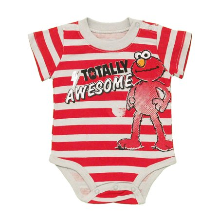 - Elmo Sesame Street Totally Awesome Cartoon Baby Creeper Romper Snapsuit