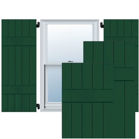 - Ekena Millwork Exterior 5 Real Wood Pine Board-N-Batten Shutter (Set of 2)