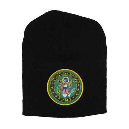3feb7268 Military Hats - United States Army Seal Black Short Beanie - Walmart.com