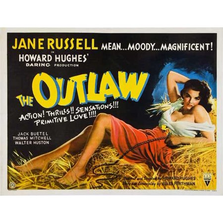 The Outlaw  1941  30X40 Movie Poster  Uk