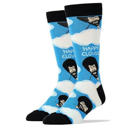 Bob Ross Happy Clouds Men's Crew Socks - Happy Cloud Halloween