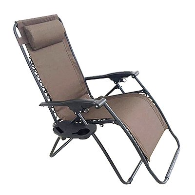 Verona Zero Gravity Chair E Coated Steel Frame Brown