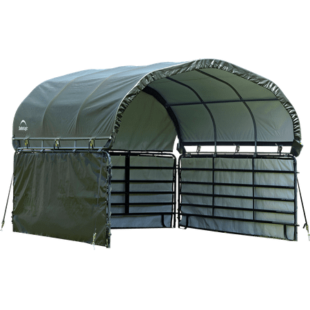 ENC KIT CORRAL SHELTER 10X10 7.5OZ GREEN Rv Storage Shelter