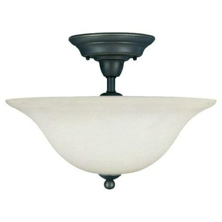Sea Gull Lighting 75061 Sussex 3 Light Semi Flush Ceiling Fixture