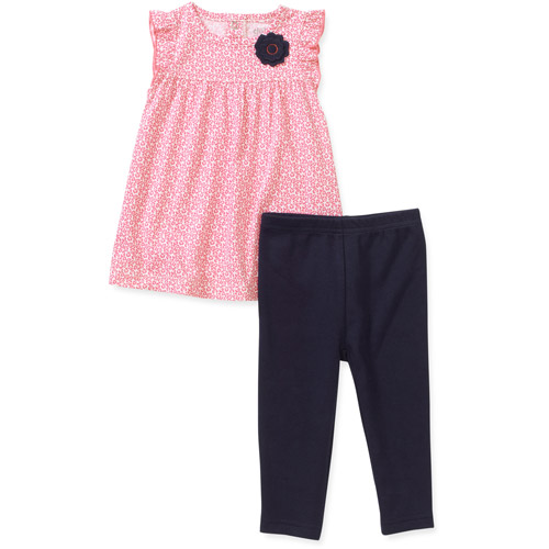 Child of Mine by Carters Newborn Baby Girls' 2 Piece Printed Tunic and Pant Set