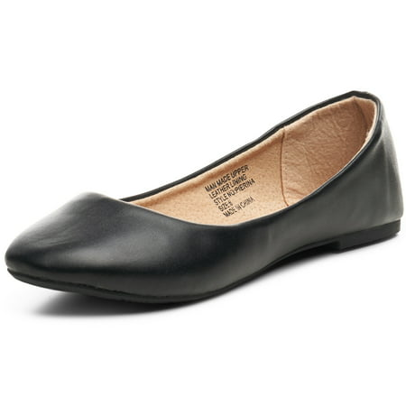Leather Ballet Flat Shoes (Alpine Swiss Pierina Women's Ballet Flats Leather Lined Classic Slip On)