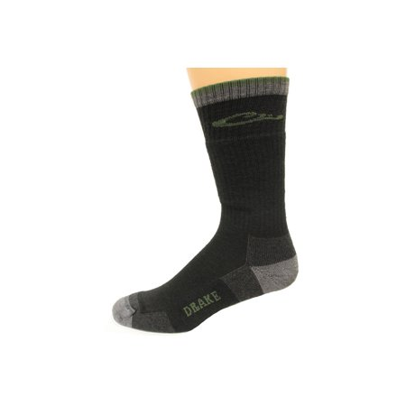 Drake Year-Rounder Merino Wool Blend Socks, Black, Lrg (W 9-12 / M 9-13), 1 Pair (Rounder Years)