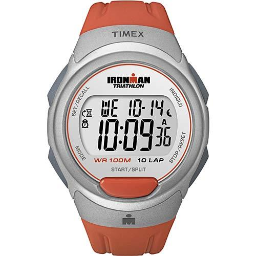 Timex T5K611 Mens Ironman Traditional Core 10-Lap Watch Orange Sunset/Silvertone