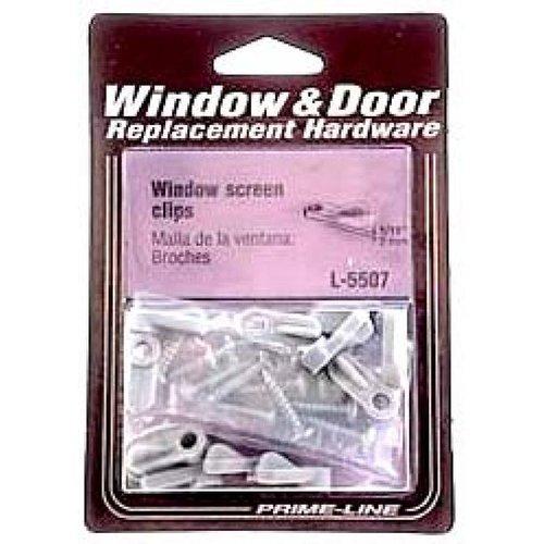 "Prime Line L5507 1/16"" Plastic Screen Clips & Screws, 12 Count"