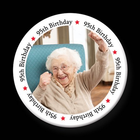 Partypro TQP-2804 95Th Birthday Photo Button