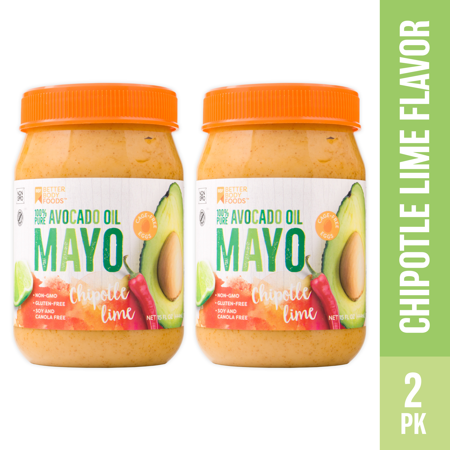 Mayo Furniture - BetterBody Foods Avocado Oil Mayonnaise with Chipotle Lime, 15 Oz (2 Pack)