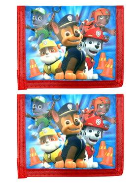 Paw Patrol Kids Bi-Fold Wallet Blue Red 2-Pack