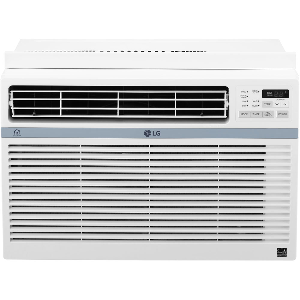 LG Energy Star 8,000 BTU 115V Window-Mounted Air Conditioner with Wi-Fi Control