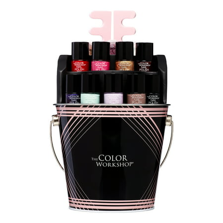 The Color Workshop Nail Pail Nail Polish Gift Set, 15 Pieces ($20 Value) - Nail Art Halloween Water Marble