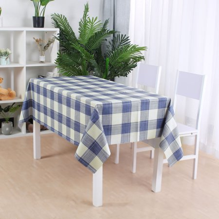 "Tablecloth PVC Oil Stain Resistant Plaid Pattern for Rectangle Table 39""x63"",#7 - image 7 of 7"