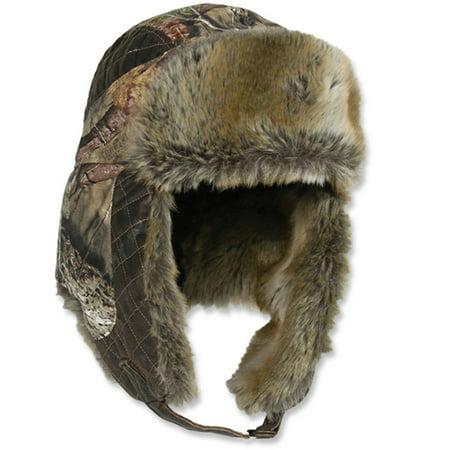 Outdoor Cap Trapper Hat, Mossy Oak Break Up - Mossy Oak Woven Cap