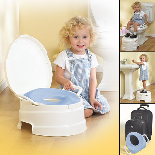 Primo 4-in-1 Soft Toilet Trainer & Step Stool by Primo International